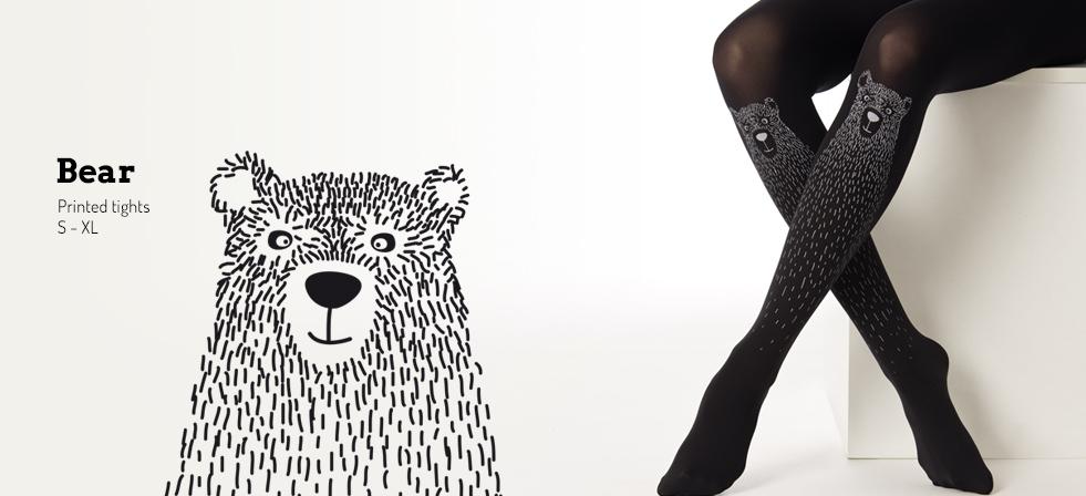 Bear Printed Tights By Virivee