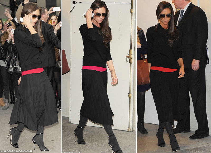 How to wear tights with sandals by Victoria Beckham