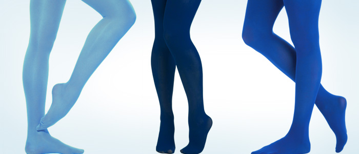How To Wear Blue Tights