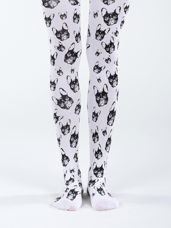 White French Bulldog Tights