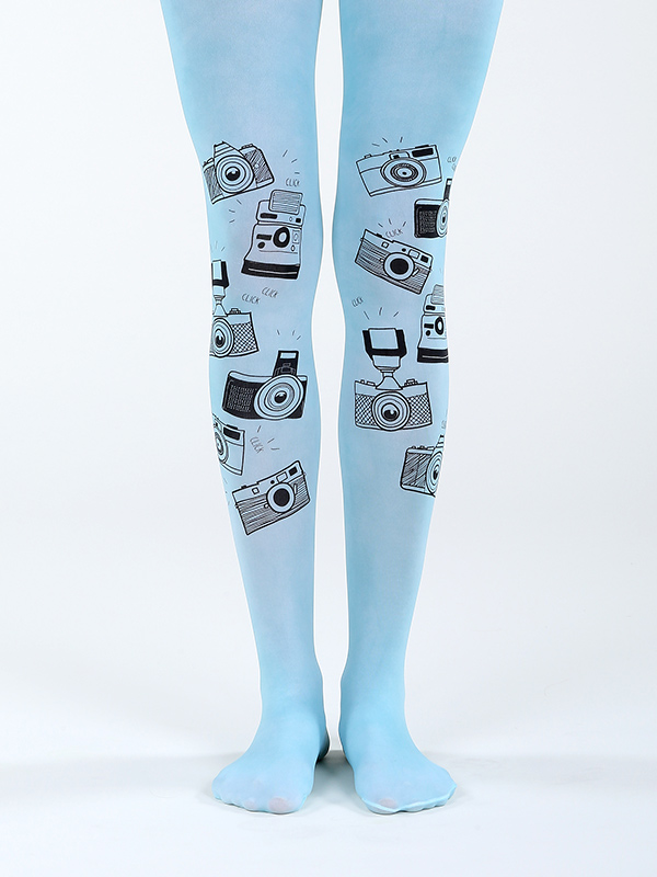 Camera Tights Blue