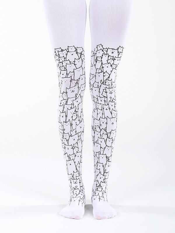 Super cute cat tights by Virivee
