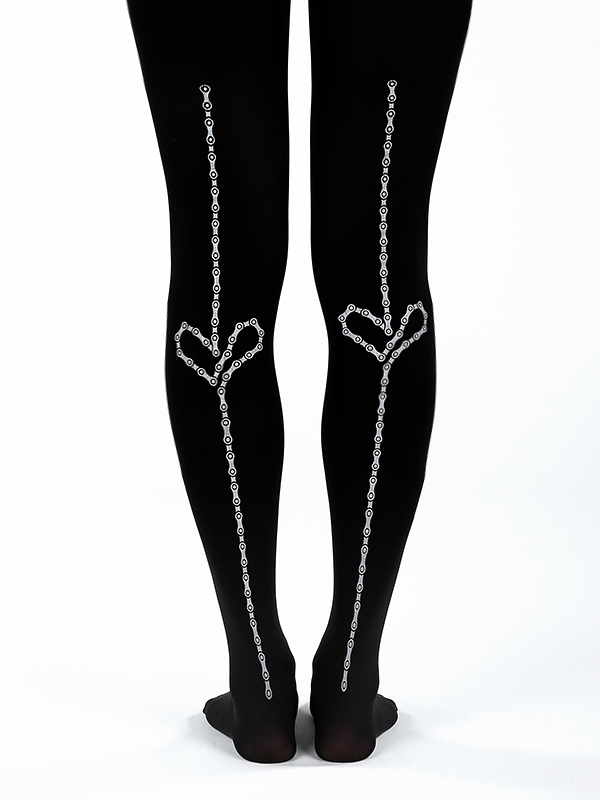 Bicycle Chain Tights, Black