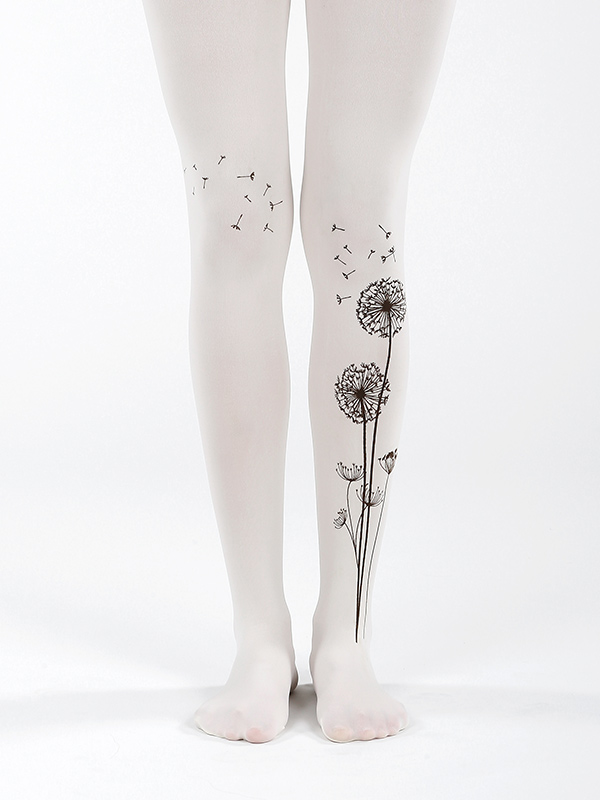 Ivory Dandelion Tights