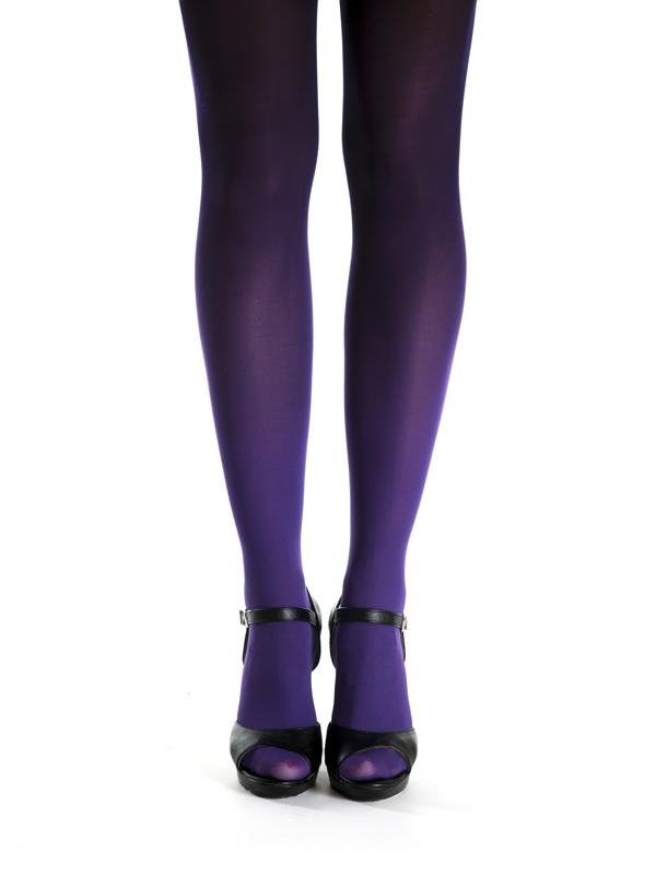 Purple-black Ombre Tights