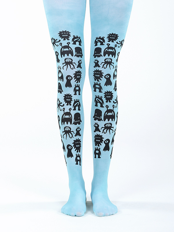 Blue Monster Tights