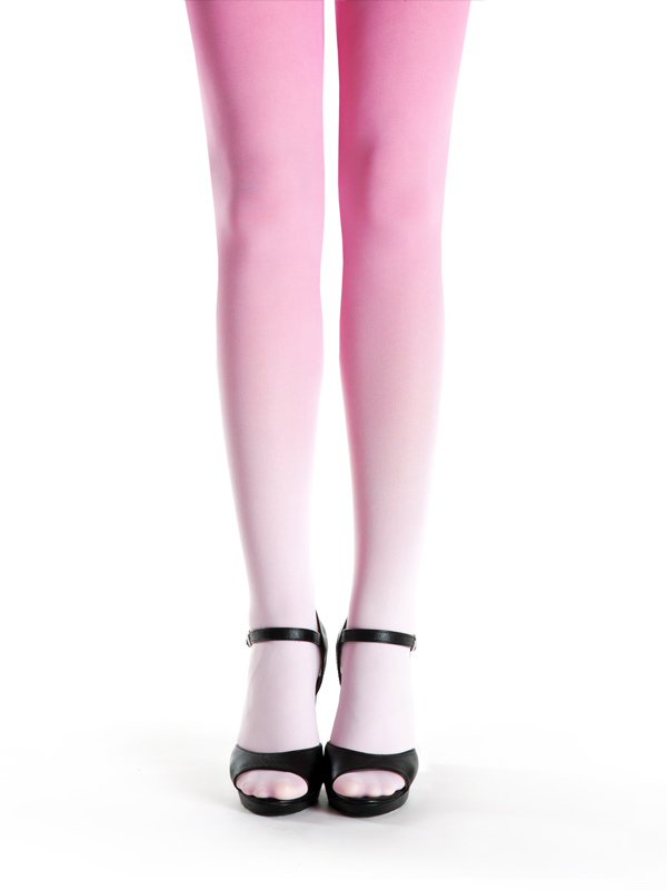 Pale Pink-pink Ombre Tights