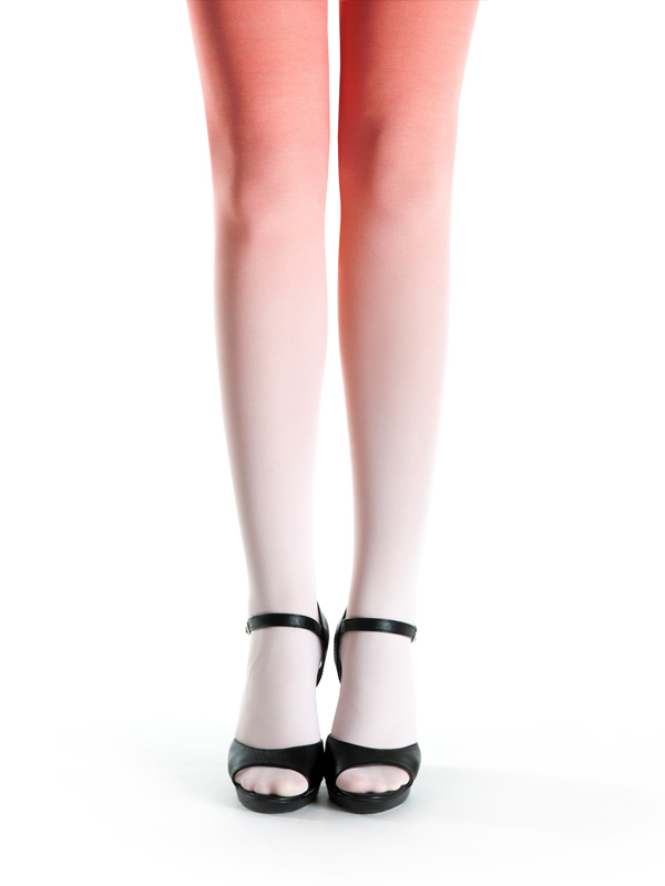 Pale Salmon-salmon Ombre Tights