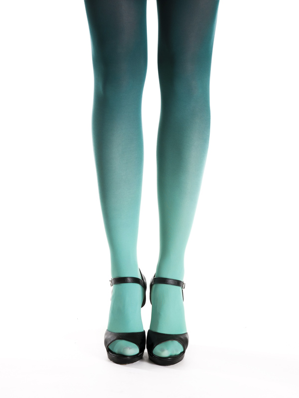 Teal Green Ombre Tights