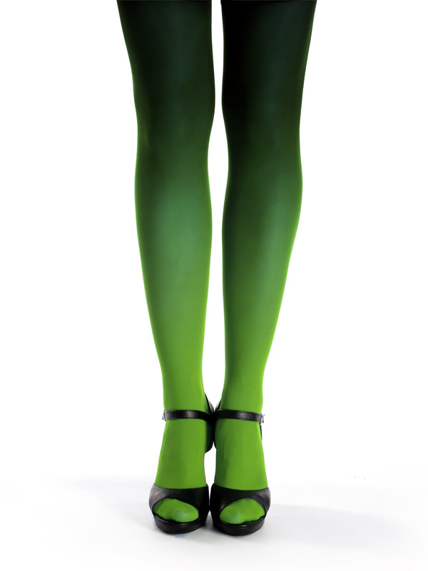 Green Black Ombre Tights
