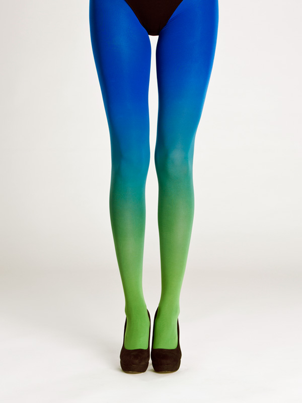 Green Blue Ombre Tights