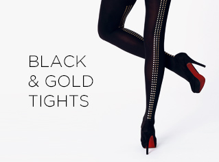 Buy Online Virivee Balck & Gold Tights