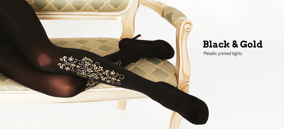 Buy Virivee Black & Gold tights online