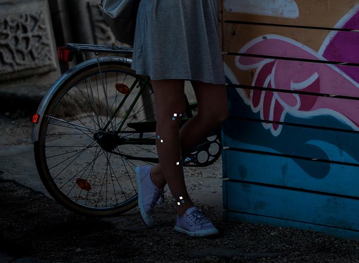 Helene light-reflecting tights