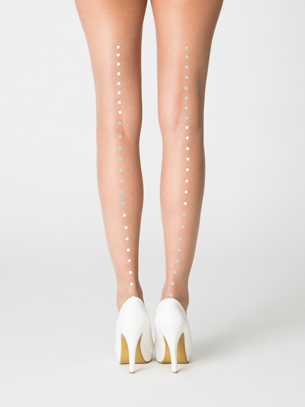 Milan Tights, White-blue