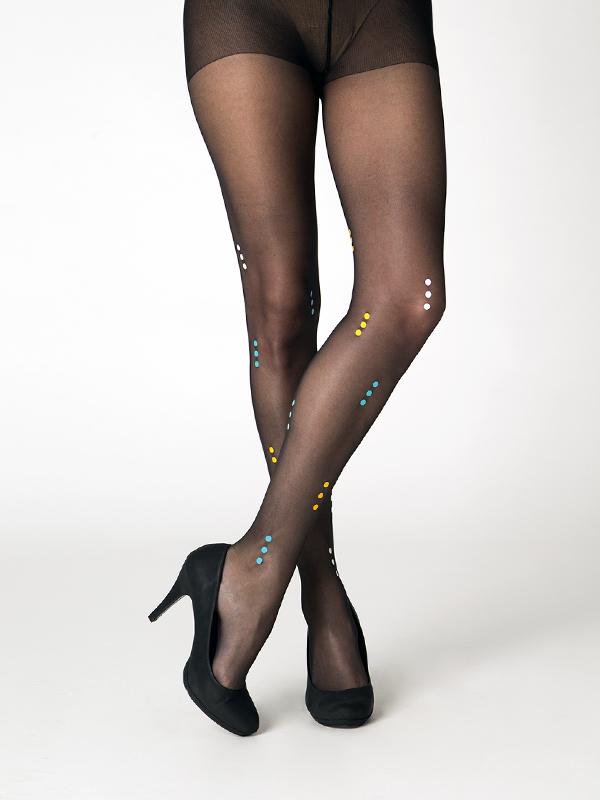 Praha black tights by Virivee