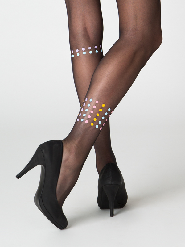 Dublin Black Sheer Tights By Virivee