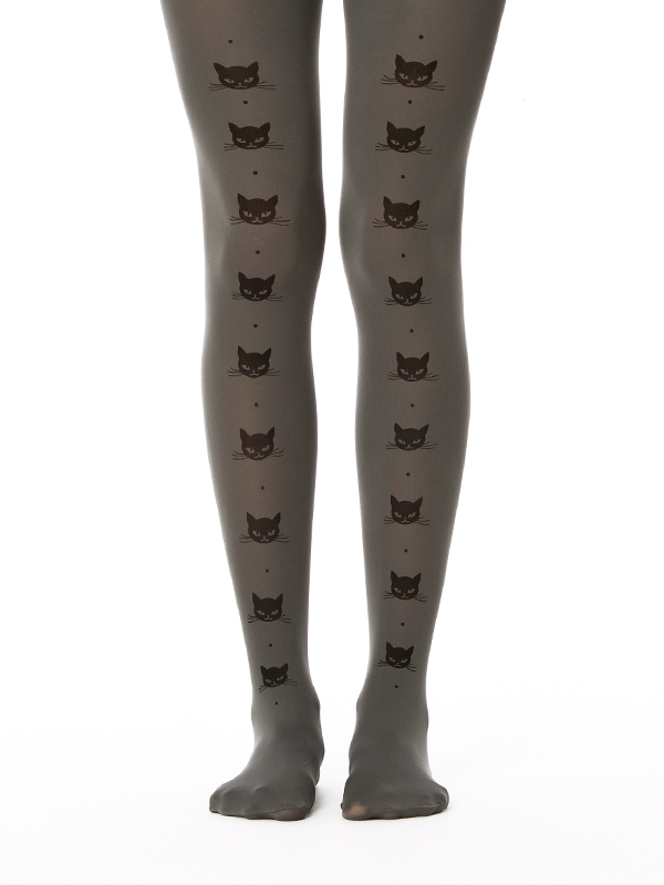 Cat Line Tights In Grey