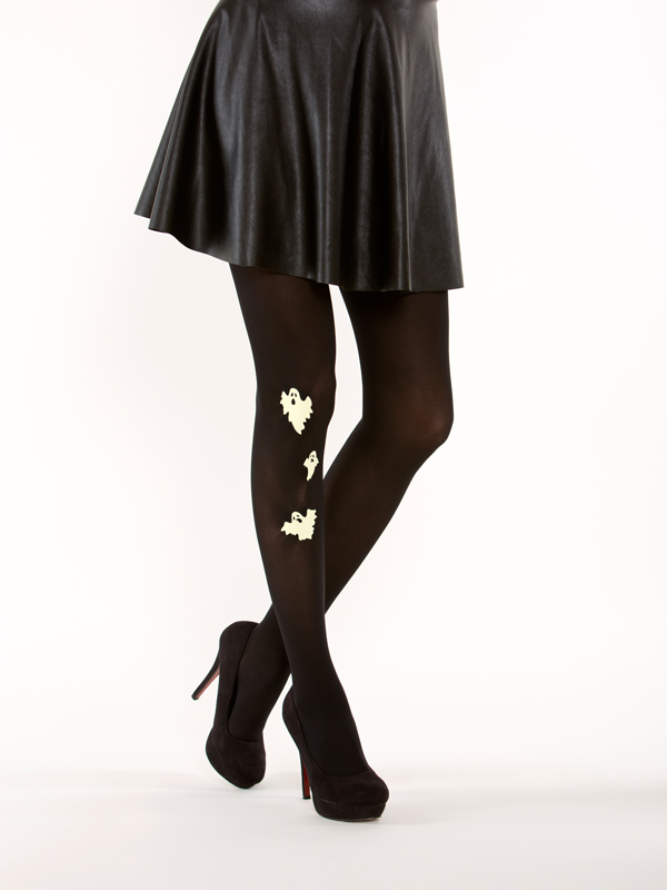 Glow in the dark ghost tights