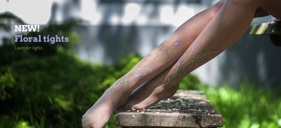 Lavender tights by Virivee