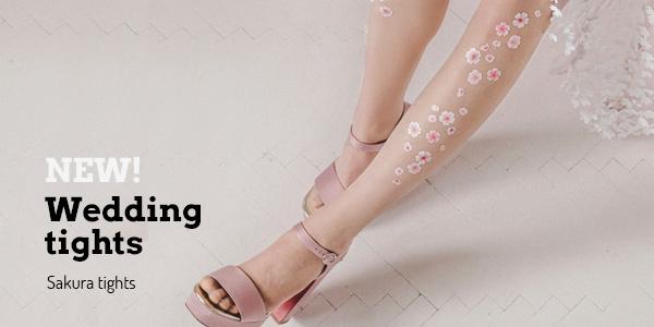 Sakura wedding tights by Virivee