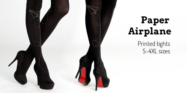 Buy Virivee Paper Airplane printed tights