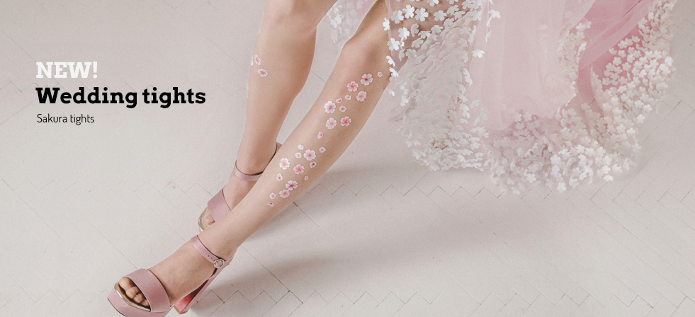 Sakura wedding tights by Virivee