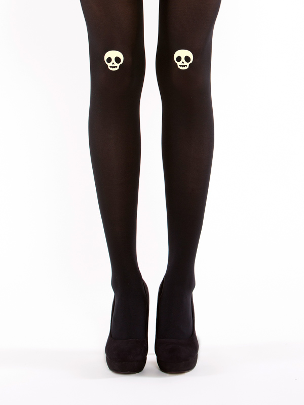 Glow in the dark skull tights