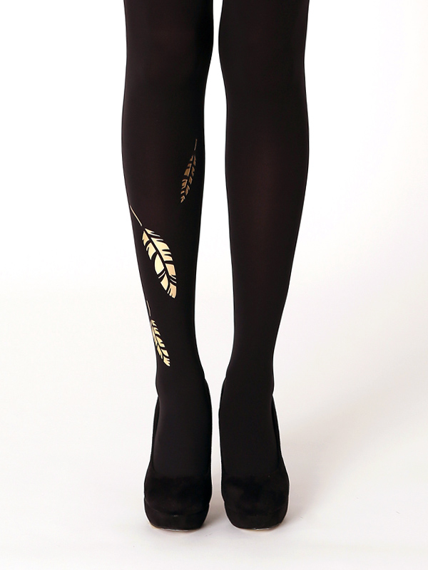 Golden feather tights