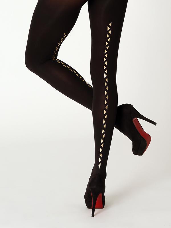 Golde trinagles line tights