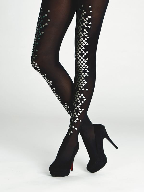 Black Mermaid Tights By Virivee