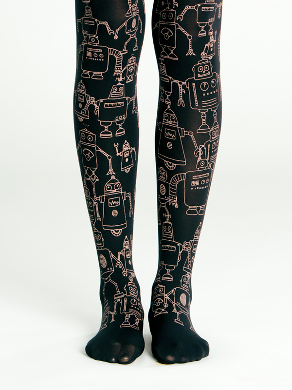 Black Robot Tights