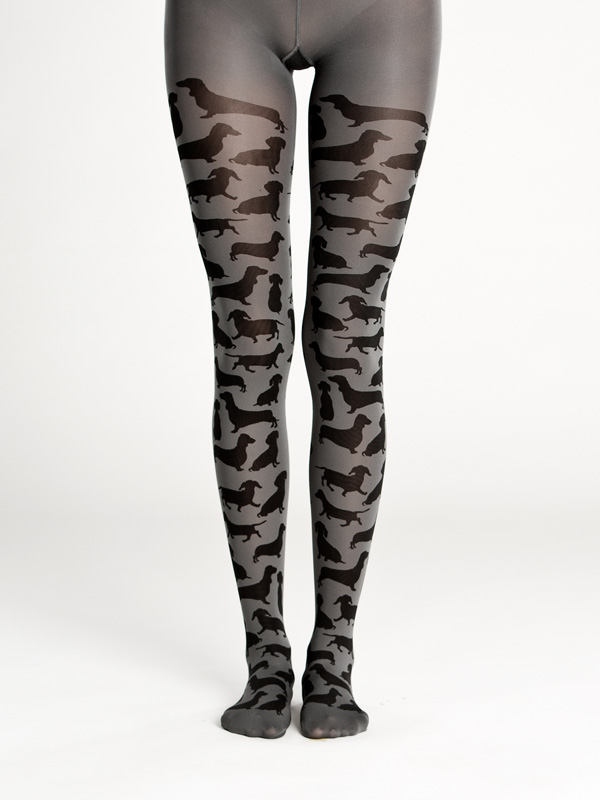 Dachshund tights by Virivee