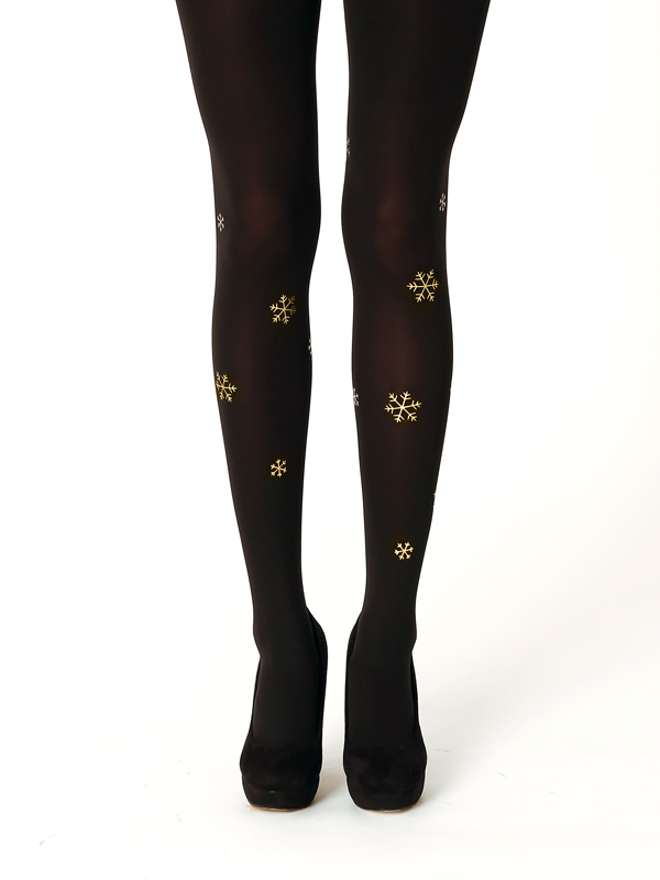 Golden snowflake tights by Virivee