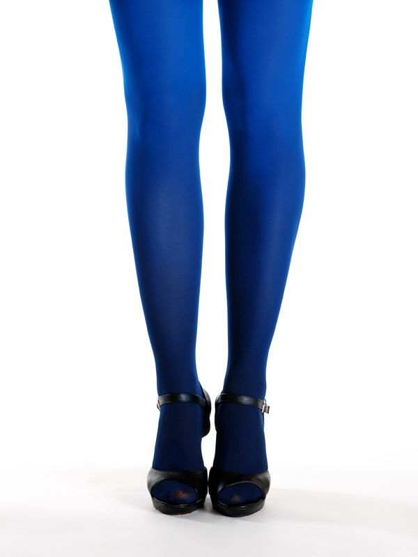 Black-blue ombre tights