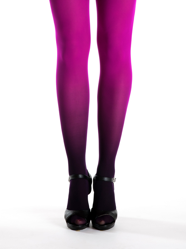 Black-magenta Ombre Tights