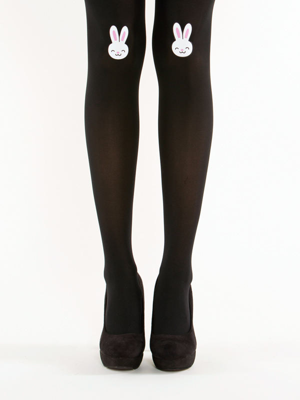 Black bunny tights by Virivee