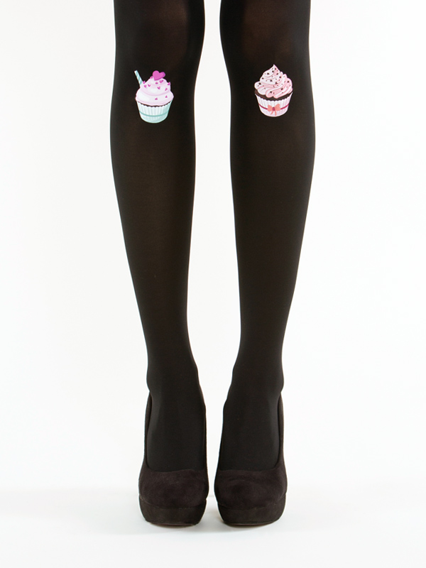 Black cupcake tights by Virivee