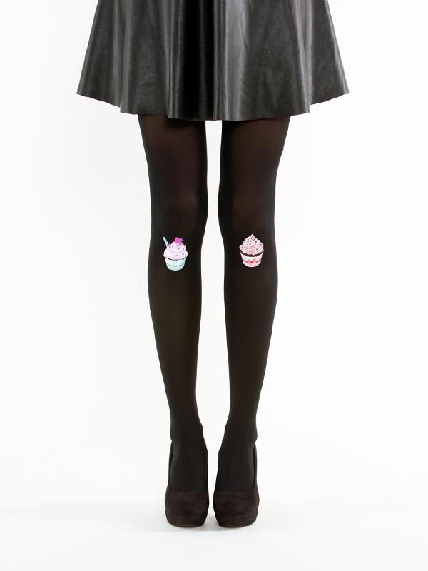 Black cupcake tights by Virivee