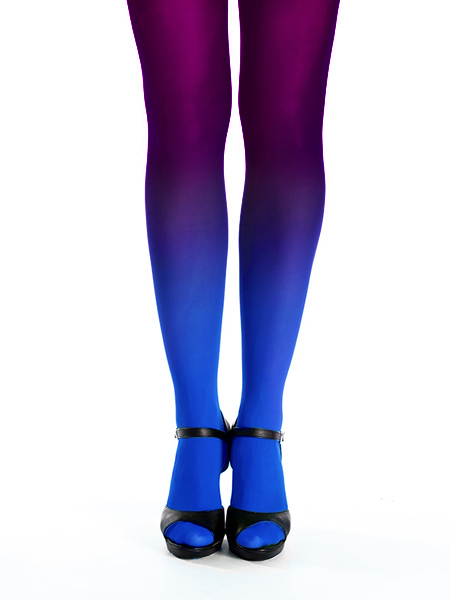Sapphire-burgundy ombre tights