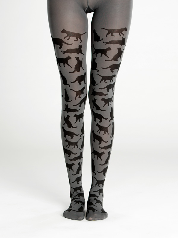 Cat silhouette tights by Virivee