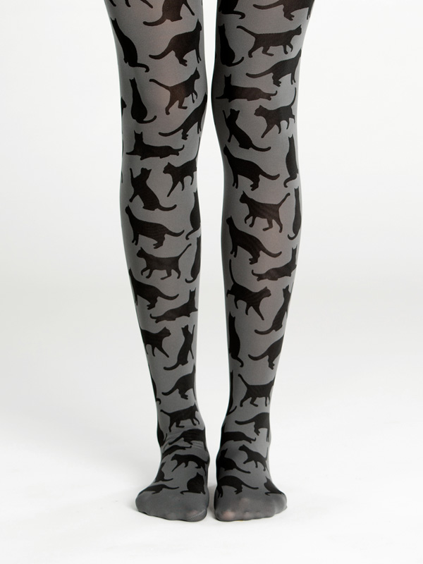 Cat Silhouette Tights