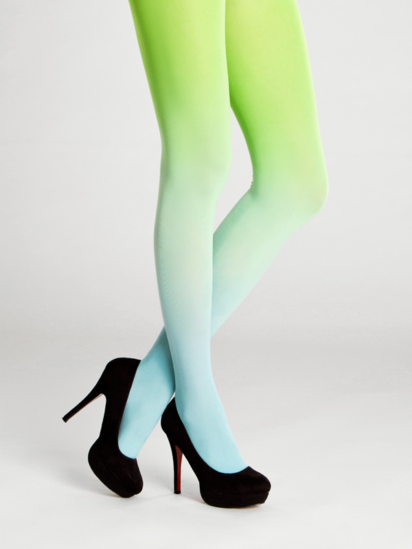 Turquoise-green Ombre Tights