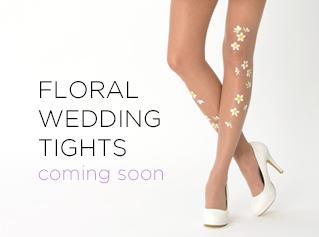 Virivee floral wedding tights - coming soon