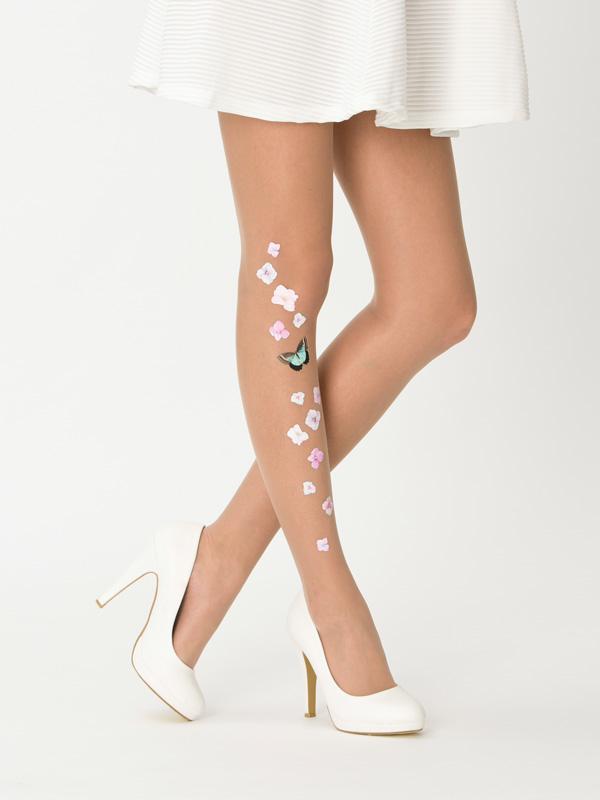 Floral wedding tights by Virivee