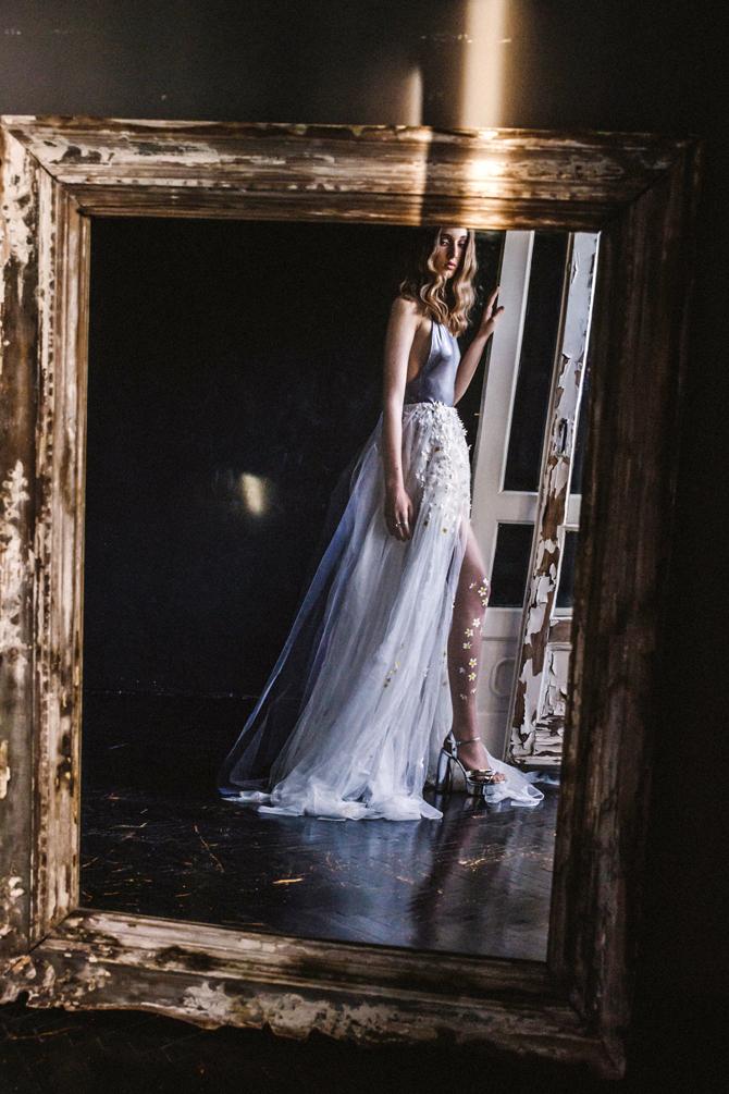 Frangipani wedding tights by Virivee