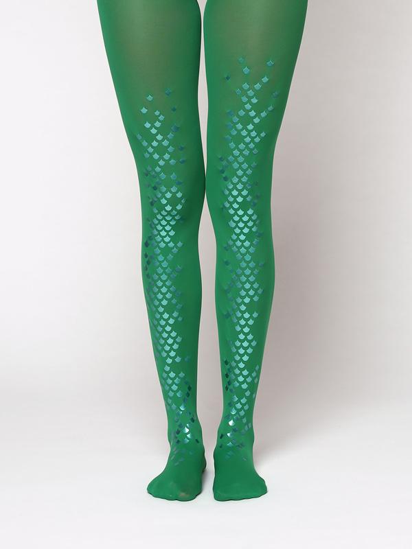 Ariel Green Mermaid Tights