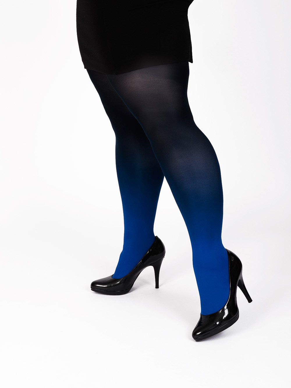 Plus Size Blue-black Tights