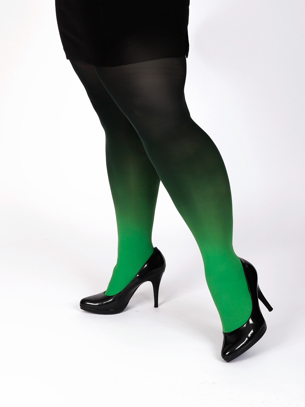 Plus Size Green-black Tights