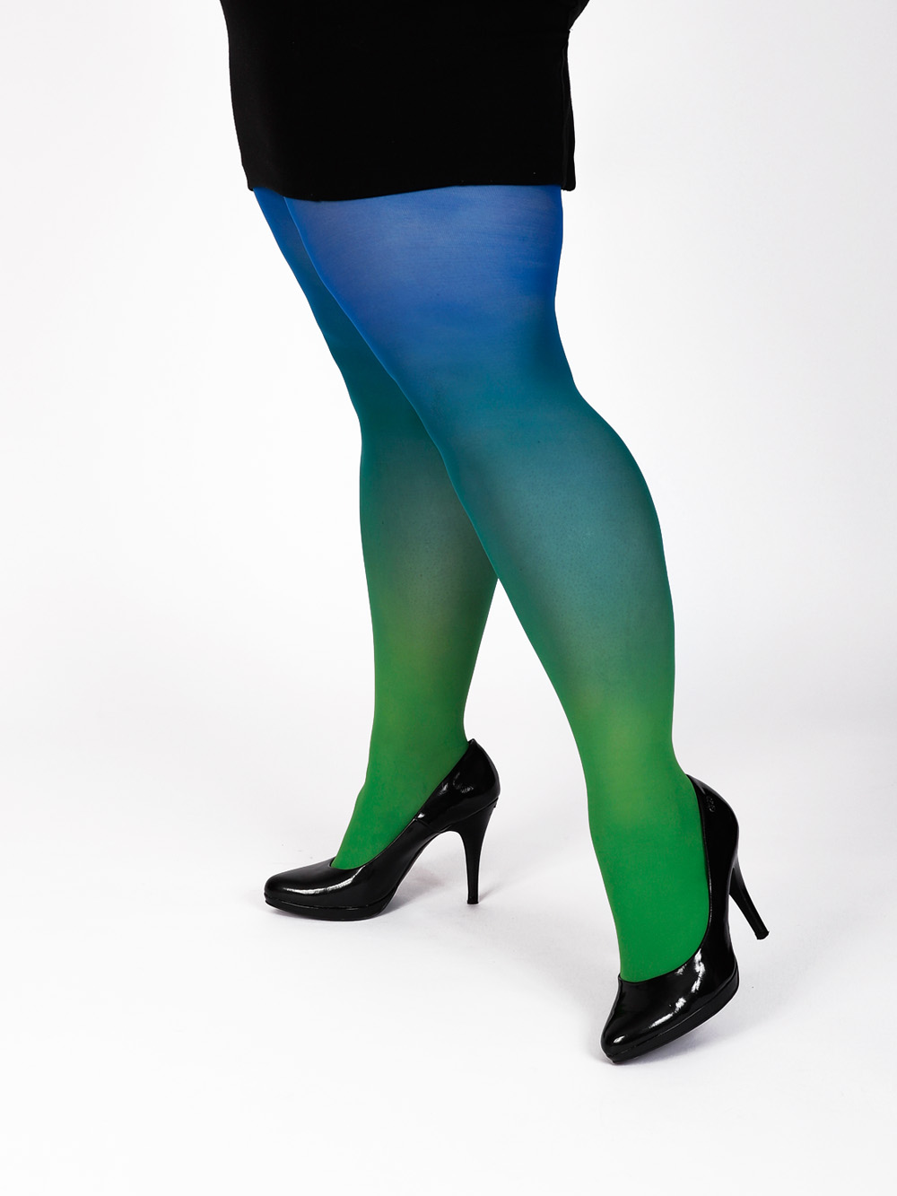 Plus Size Green-blue Tights